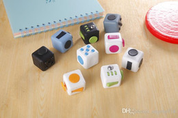 Wholesale Cube World Toys - 11 colors 2017 new fidget cube toy the worlds first American decompression anxiety toys C1670