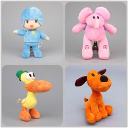 Wholesale Elly Doll - NEW Pocoyo Elly & Pato POCOYO Loula Stuffed Plush Doll Stuffed Toys Brinquedos Kids Gift ( 4pcs Lot  Size: 14-25cm)
