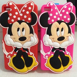 Wholesale Rubber Polka Iphone Case - Cute 3D Cartoon Minnie Mouse Polka Dot Soft Silicone Case For Huawei P8 5.2 P9 lite Y635 Y3 Y5 Y6 II Y3II Y5II Y6II Rubber Cover Phone Cases
