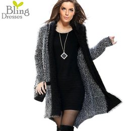 Wholesale Women Overcoat Price - Wholesale-Best Price One Size 2016 Women's Fashion Faux Fur Hit Color Long Sleeve Cardigans Autumn and Winter Warm Overcoat Sweater