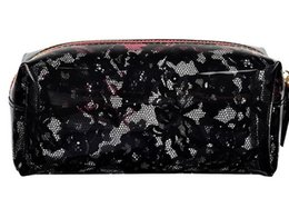 Wholesale Vs Lace - 2017 New Luxury Brand VS Women Cosmetic Case Fashion PVC Transparent lace Makeup Bag Waterproof Storage bag Christmas VIP Gift