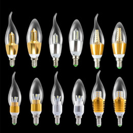 Wholesale 12v Candle - New LED Candel Bulb Lights Led E14 6W Bulbs Light Candle Lamp 32pcs 3014 SMD Led Spotlights 500 Lumens warm cool white 85-265V CE ROHS