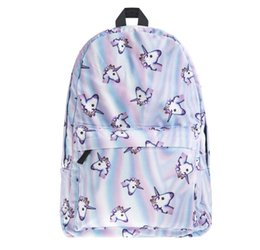 Wholesale Girl Backpacks For High School - Unicorn Emoji Backpacks for High School Backpacks Emoji Monkey Printing School Bag For Teenagers Girls Shoulder Bag Vintage Mochila 788