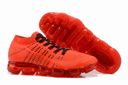Wholesale Hunting Tops - 2017 New red VaporMax 2018 Men basketball shoes Running Shoe Top quality Fashion Vapor Maxes Sports Sneakers Trainers AA2241-006 with box