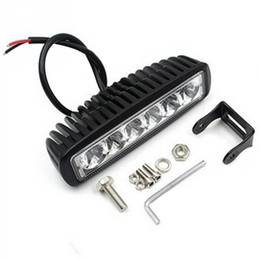Wholesale Led Driving Lights For Cars - Waterproof 18W Flood LED Work Light ATV Off Road Light Lamp Fog Driving Light Bar For SUV Car Truck Trailer Tractor UTV Vehicle