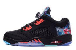 Wholesale Ship Kites - Cheap New Retro 5 Men's kite Basketball Shoes High Quality Women's Sports shoes Free shipping