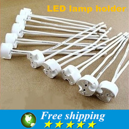 Wholesale Bi Pin Bulbs - LED Bulbs,LED Lamp Socket holder Base Halogen with Wire Miniature Bi-pin Base,GU5.3 MR16 MR11 Lighting Accessories,X50