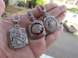 Wholesale Necklace Love Ring - Hockey NHL 2010 2013 2015 Chicago Blackhawks Stanley Cup championship ring Pendant Necklace With Chain Set souvenir Sport Punk Fan Men Gift