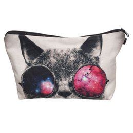 Wholesale Dogs Cosmetic - Wholesale- New Fashion Makeup Case Hot Women Multifunction Cosmetic Bag Cute Dog Printed Pouch Girl Cartoon Travel Toiletry Organizer