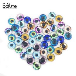 Wholesale Jewelry Glass Cabochons - BoYuTe (48 Pieces Lot) 12MM Round Pattern Cabochons Mix Eyeball Cat's Eye Image Glass Cabochon for Jewelry Making