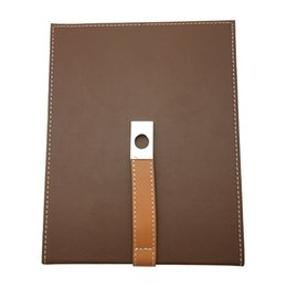 Wholesale Wood Buttons Free Shipping - free shipping Cedar wood Lined Portable Cohiba Cigar Humidor Leather humidor Carrying travel packets Brown Color with button decoration