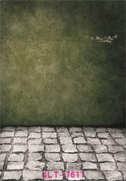 fotografia in pietra Sconti muro verde scuro pavimento in pietra fotocamera 5X7ft fotografica vinile fotografico photography sfondi matrimonio bambini bambino sfondo per studio fotografico