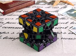 Wholesale Sticker Puzzle - Wholesale 3D Cube Puzzle Magic Cube 3 x 3 x 3 Gears Rotate Puzzle Sticker Adults Child's Educational Toy Cube DHL free shipping