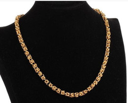 Wholesale Asian Wholesale Led - 18 k gold plated European and American fashion hot style domineering ruggedly double leading man necklace long lasting colors