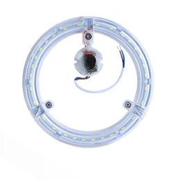 Wholesale Magnet Led Light Ceiling - Circle Ceiling light 12W 18W 24W transparent ring lamp Led light suorce high brightness SMD5730 aluminum PCB Magnet adsorption AC180-260V