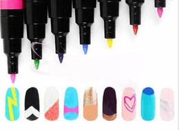 Disegno del chiodo facile online-Strumento per la pittura con penna per unghie artistiche 16 colori Kit per il disegno opzionale con gel fai da te