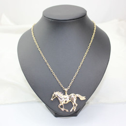 Wholesale Gold Mom Necklace - New Arrival Jewelry Fashion Horse Pendant Necklace For Women Ladies Silver Gold Plated Girl Mom Gifts