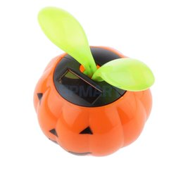 Wholesale Solar Power Flower Pot - Wholesale-Cute Solar Powered Pumpkin Shape Flower Pot Flip Flap Leaf Dancing Toys