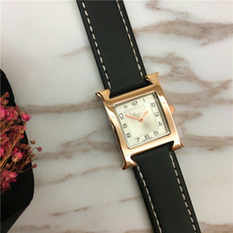 Wholesale Square Watch Ladies - Fashion Lady Watches Multi Colors Top Brand H female clock free shipping Student Luminous Relogio Masculine Square Dial Face Party Spotlight