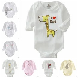 Wholesale Elephant Romper - Baby INS Romper Animal Forest Long Sleeve Cotton One Pieces Kids Spring Cute Elephant Clothes Jumpsuits Bebe Infant Baby Clothing J402