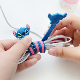 Wholesale Data Cable Mouse - Wire Organizer for earphone,USB line,other cables Data Cable Winder Cartoon Style 11 Inch Length Mouse line Protector