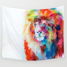 indian bedding Promo Codes - Lions Pattern Indian Mandala Tapestry Floral Wall Hanging Home Decorative Hanging Cloth Polyester Cotton Bed Linens Printed Sofa Cover