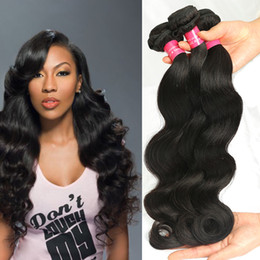 Wholesale Discounted Bundles Human Hair - 8A Brazilian Virgin Hair Body Wave Double Weft High Fidelity Discount Hair Extensions Unprocessed Human Hair Body Wave Bundles Dyeable