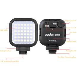 Wholesale Mini Dslr Camera - Original Godox LED36 LED Video Light 36 LED Lights Lamp Photographic Lighting 5500~6500K for DSLR Camera Camcorder mini DVR