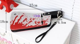 Wholesale Blood Handbag - The new printing handbag ladies women's drops of blood knife knife bag small bag