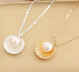 Wholesale Gold Plate Chain Necklace Discount - Fashion jewelry High quality Pearls Diamonds pendant necklace women jewelry 50pcs style Free shipping Discount Price Hot Sale