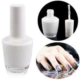 Wholesale Gel Art Stickers - Wholesale- 15ml Nail Art White Star Glue Foils Transfer 3D Tips Adhesive UV Gel Polish Decoration Sticker Painting Manicure Tools DIY Nails