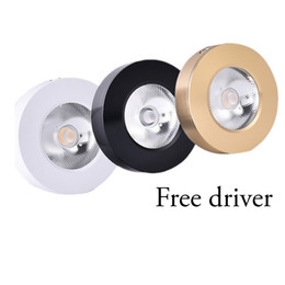 Wholesale Free Led Downlights - Led ultra-thin outfit downlights dimmable 3w 5w clothing store counter lamp surface mounted living room cob spotlight Free driver