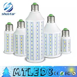 Wholesale Dhl Free Shipping Led Lamp - DHL FREE SHIPPING Ultra bright Led Corn light E27 E14 SMD 5630 85-265V 10W 15W 25W 30W 40W 50W 4500LM LED bulb 360 degree Led lighting lamp