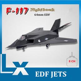 Wholesale Ep Rc - 64 mm edf rc airplane jet F-117 nighthawk rc plane eps foam remote control airplanes kits toys