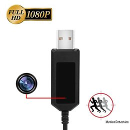 Wholesale Mini Camera Cable - 32GB memory Full HD 1920*1080P Hidden Camera Mini Video Spy Camera Motion Detection Charging Cable Camera Outdoor Indoor Camcorder PQ289