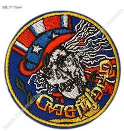 """3 """"reconnaissant mort Skull Jerry Garcia déchirer Logo Music Band brodé FER sur Patch Rock Punk Heavy Metal livraison gratuite ? partir de fabricateur"""