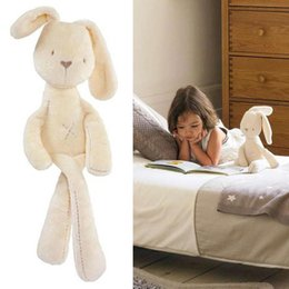 Wholesale Mini Plush Bunnies - Wholesale-35*8cm Cute Bunny Baby Soft Plush Toys Mini Stuffed Animals Kids Baby Toys Smooth Obedient Sleeping Rabbit Doll