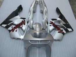 Wholesale Kit Fairings Kawasaki Zx6r 1995 - Fairing kit for Kawasaki Ninja ZX6R 1994 1995 1996 1997 silver black fairings set zx6r 94 95 96 97 OT01