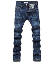 Wholesale Designer Drawing - Wholesale- 2016 new printed Coloured drawing or pattern Nightclubs Jeans men,Fashion Designer Denim Jeans Men,plus-size 28-36