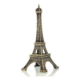 Wholesale Antique Collectible Figurines - Vente chaude 15 cm Bronze Paris Tour Eiffel En Metal Artisanat Figurine statute Modele Accueil Decors Souvenir Livraison Gratuite
