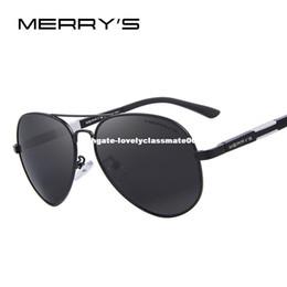b9128728da2 MERRY S Men HD Polarized Sunglasses Aluminum Magnesium Driving Sun Glasses  Men s Classic Brand Sunglasses S 8285