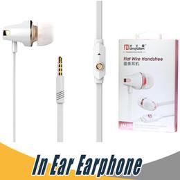 Wholesale Noodle Earphones - Langsdom JM23 In Ear Earphone 3.5mm Noodles Wired Earphone For iPhone Computer MP3 MP4 Universal Earphone