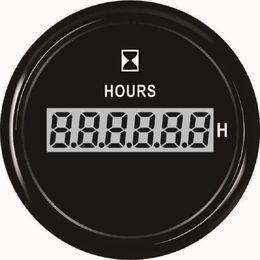 """2019 carro levou relógio tempo Popular Digital Hour Meter Medidor de 52mm (2 """") Com Luz de Fundo Para O Barco Do Barco Iate Navio Nova Chegada"""