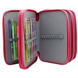 Wholesale Pencil Holder Pen Pouches - Students Stationary Pen Eraser Pouch Organizor Bag 72 Inserting Large Capacity 4 Layers Pencil Holder Case