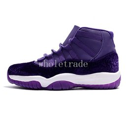 Wholesale Size 13 Shoes For Men - [with box] 11 Velvet Heiress Purple basketball shoes for Men High top heiress 11s sneakers size 7-13