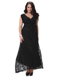 Wholesale Star Plus Dresses - hot sale big size 2017 summer new European star style fashion female black lace Dresses Women's Clothing party sexy Evening dress sleeveless