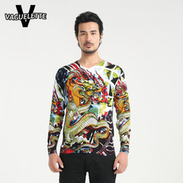 Wholesale Colorful Mens Clothes - Wholesale- Casual Colorful Cotton Sweater Men Printed Chinese Dragon Novelty Mens Knitted Pullover 2016 Slim Fit Men Clothing M-4XL