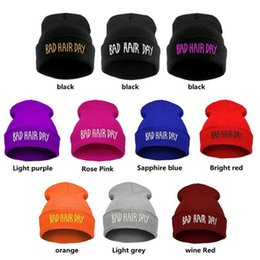 Wholesale Male Derby Hat - Knitted Beanies for Men Bad Hair Day Warm Caps Fleece Ski Winter Warm Beanie Hat Knitted Hat Male Millinery Outdoors Hat Cap DHL