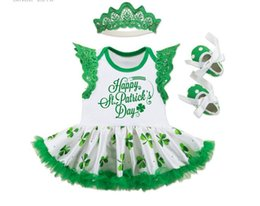 Wholesale Kids Shoe Wings Wholesale - 2017 new arrivals baby girl Patrick print dress with wings 3 pieces set 100% cotton kids dress+headband+ shoes little princess dress 0-3T