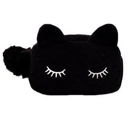 Wholesale Make Offer - Wholesale- 2016 Makeup Bags Offers Velvet Cat Design Cosmetic Make Up Organizer Bag Women Bag Cosmetics trousse de maquillage sac